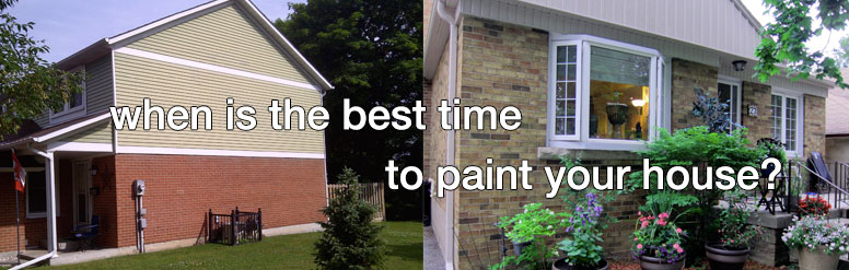 Best time to paint your house exterior Temperature to paint exterior house